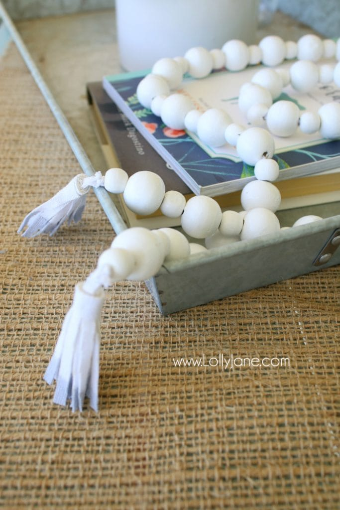 DIY | How to make a wood bead garland