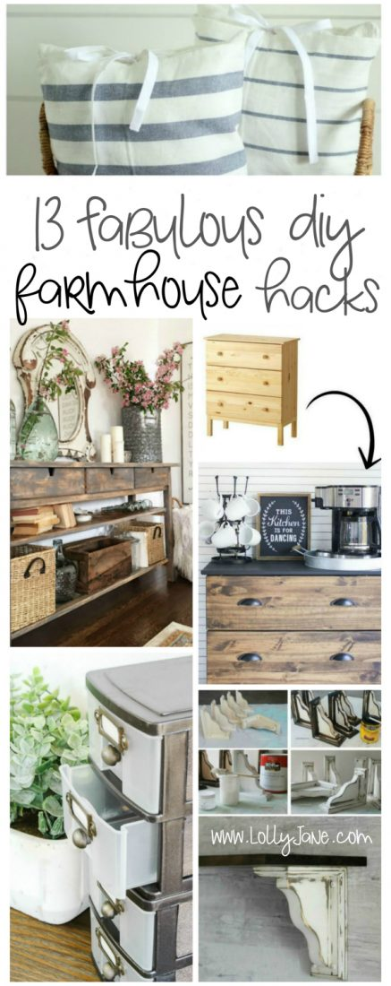 13 fabulous farmhouse style hacks lolly jane for Home decor hacks