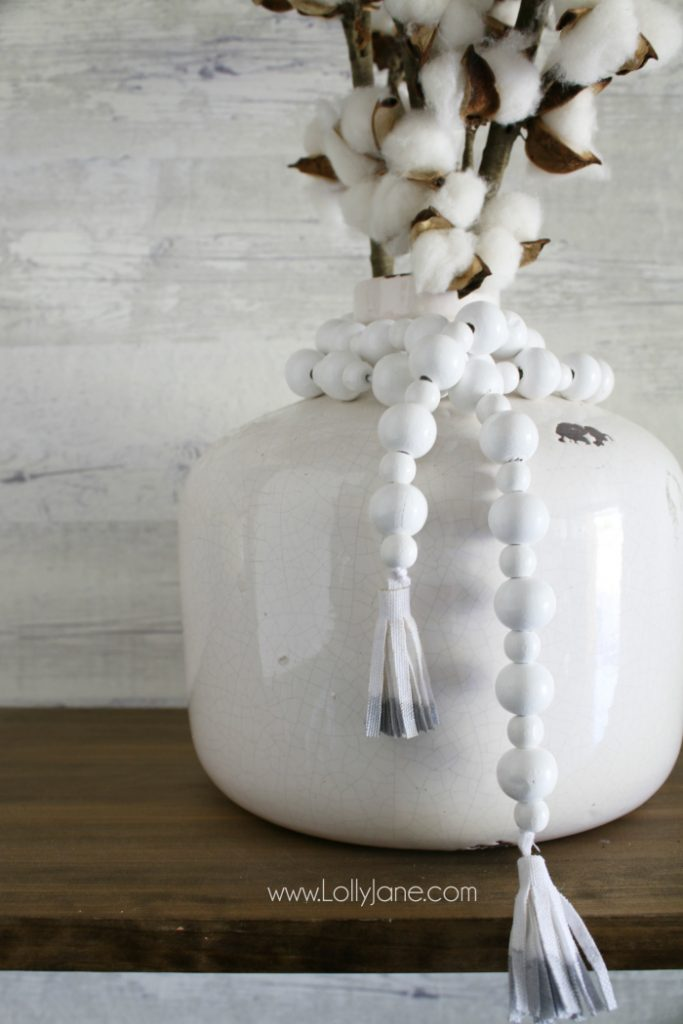 Diy How To Make A Wood Bead Garland Lolly Jane