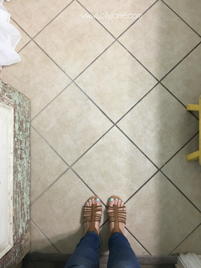 paint for tile floorsHate your tile floors Paint them  Lolly Jane