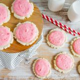 Strawberries and Cream Sugar Cookies