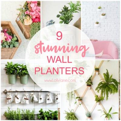 9 stunning wall planters | easy decor ideas