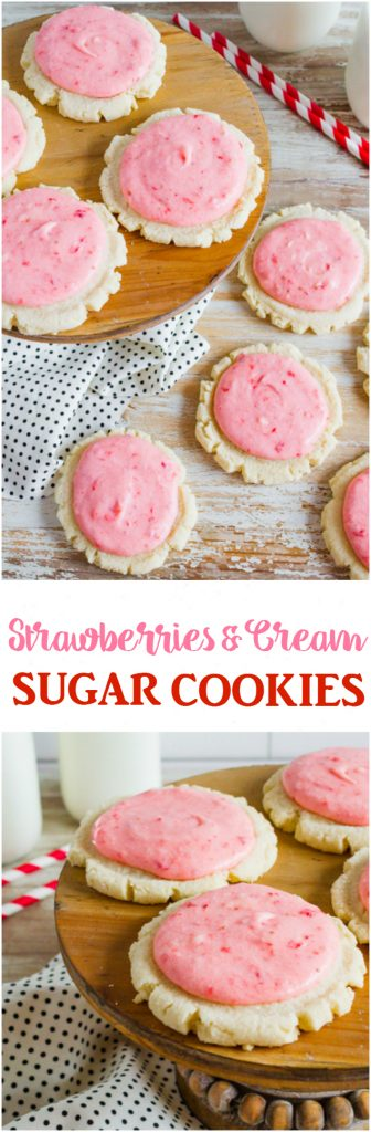 Strawberries And Cream Sugar Cookies Recipe If You Ve Ever Wondered What Summer Tastes
