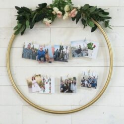 diy hula hoop display