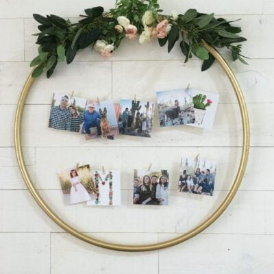 Make this Photo Display from a Hula Hoop!