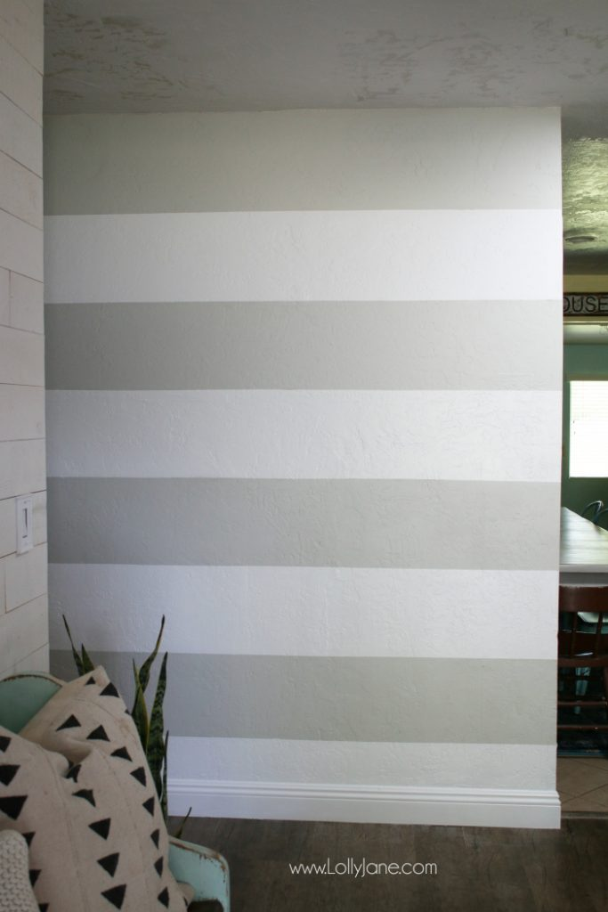 Striped Accent Wall Diy Lolly Jane