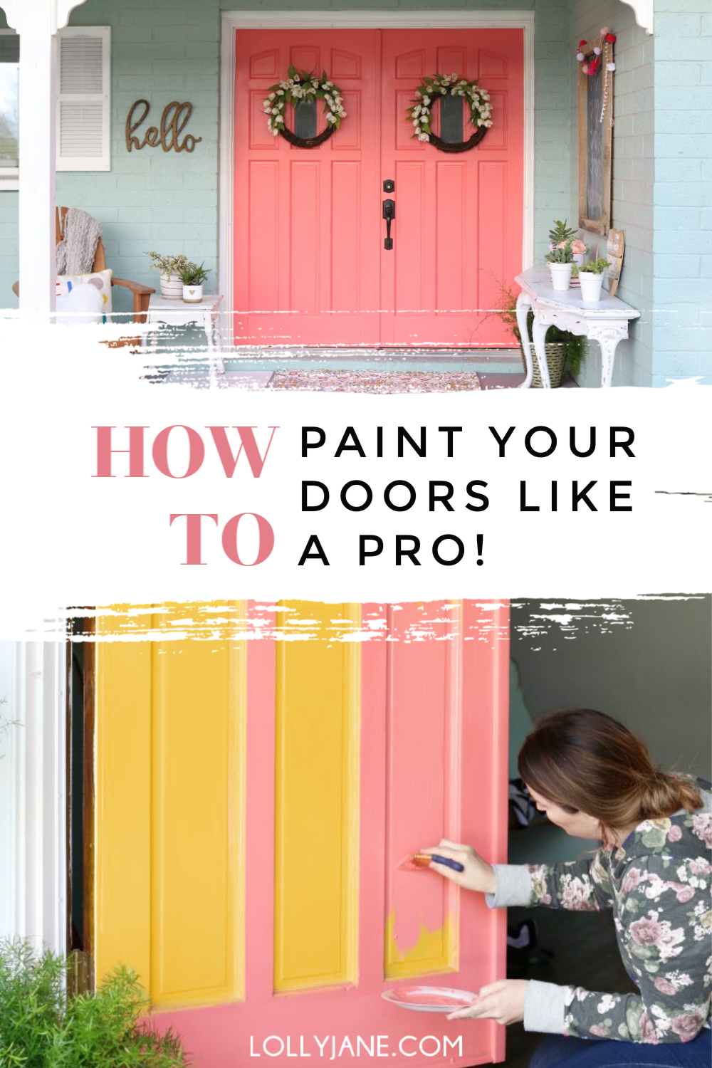 How to Paint DOORS like a PRO... in just a few steps! #diy #painteddoors #painttutorial #paintingtips