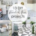 DIY stenciled floor projects! Turn your outdated flooring into something pretty, for cheap! Click for 12 more inspiring DIY stenciled floors!