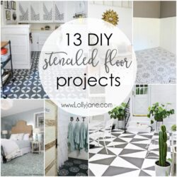 13 DIY stenciled floor projects