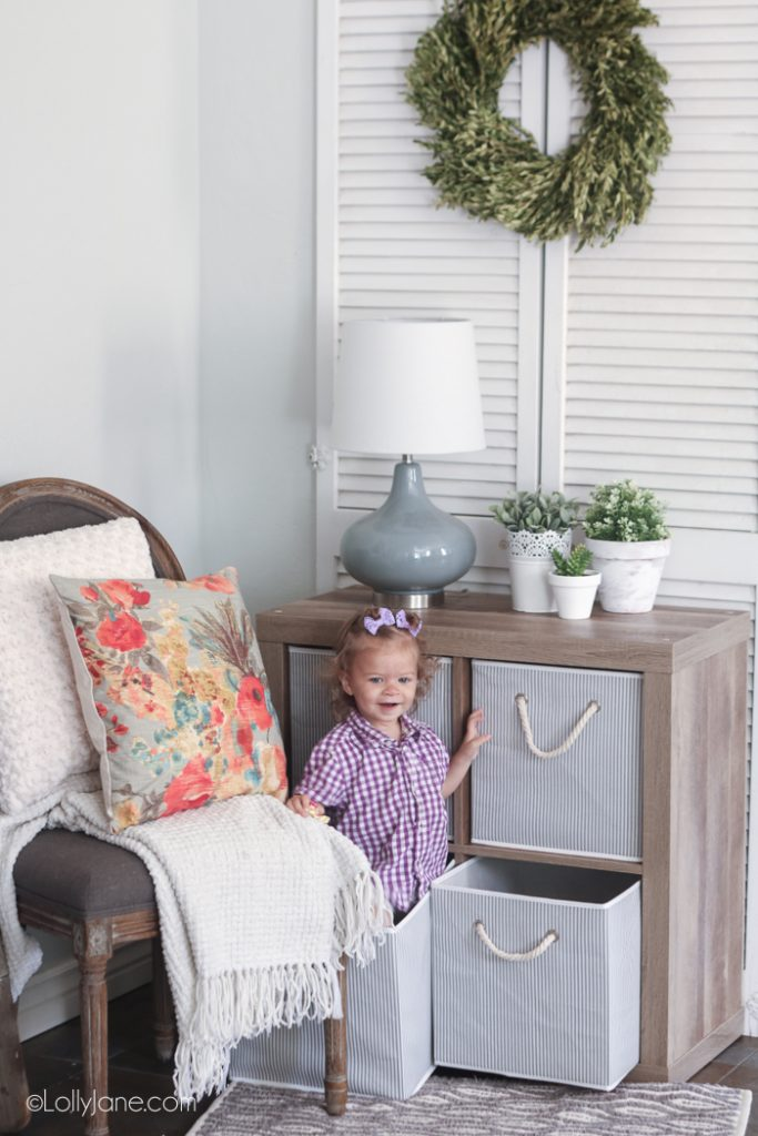 Pretty refreshed space, love the chic stripes totes and that they're kid friendly- total mom win!