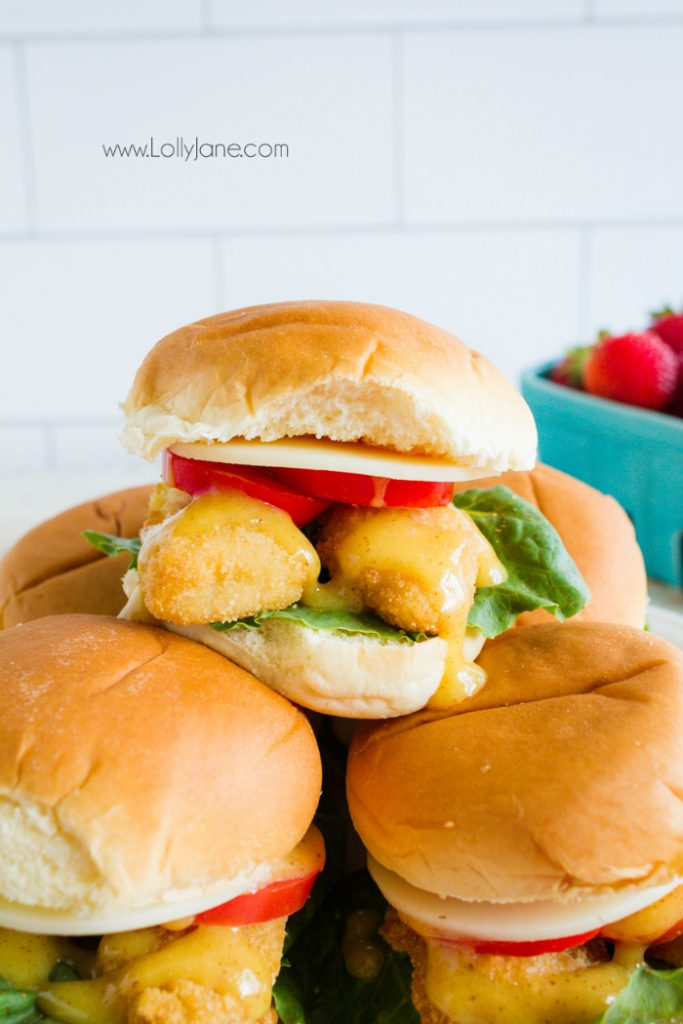 Can't get enough of this yummy honey mustard sauce! Love these tender fish sliders, such an easy dinner recipe!