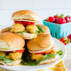 honey mustard fish sliders