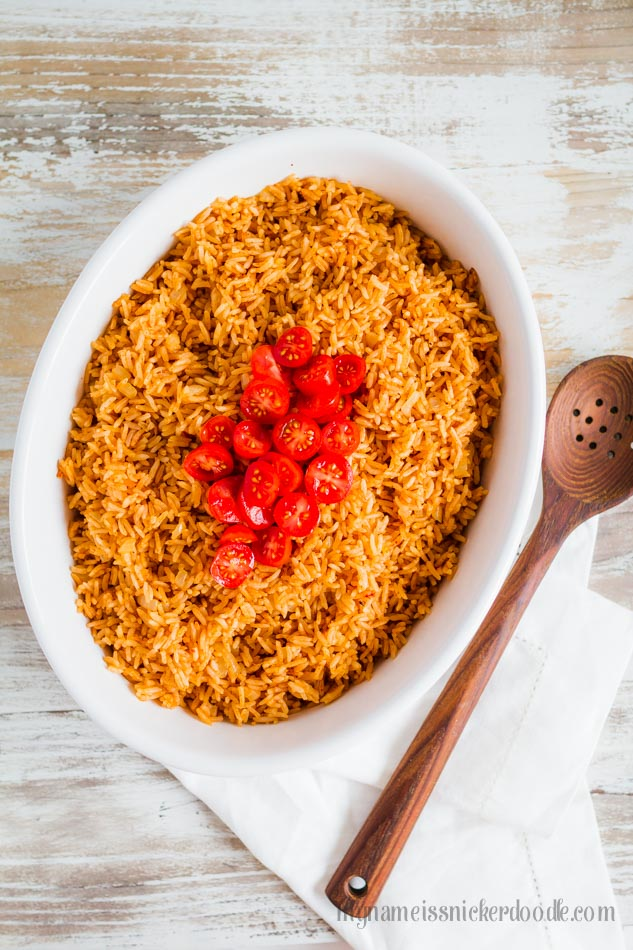 Such an easy way to make Mexican rice! LOVE this Instant Pot Spanish Rice recipe!! A keeper for sure! Easy dinner idea, mm!