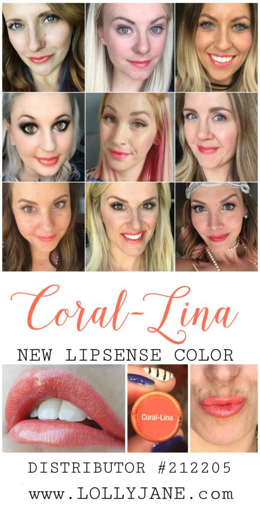 Loving this new limited edition LipSense color: Coral-Lina LipSense lipcolor! Such a pretty coral lipcolor! Love this bright lipcolor, so fun! Distributor #212205 | @lollysense #corallinalipsense