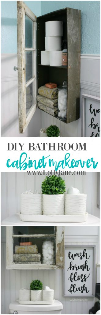 Ideal You uve got to check out this diy bathroom cabinet It us made from an