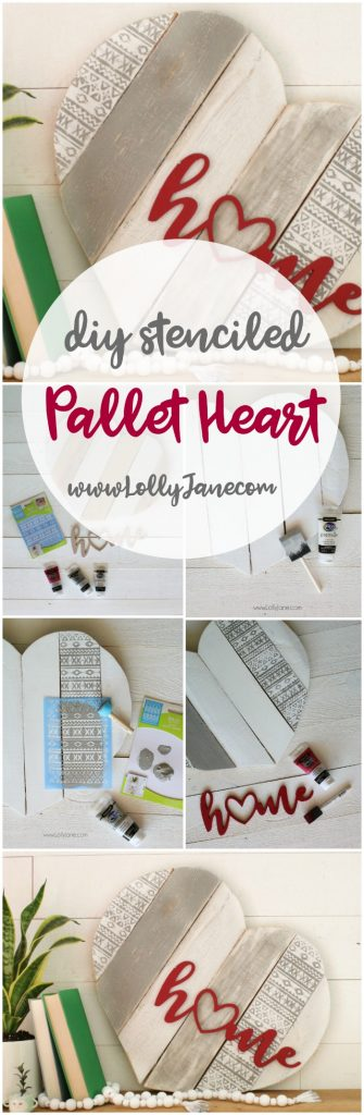 LOVE this fun DIY stenciled home pallet art! Such a fun tutorial to make this yourself!
