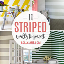 11 diy striped walls | roundup