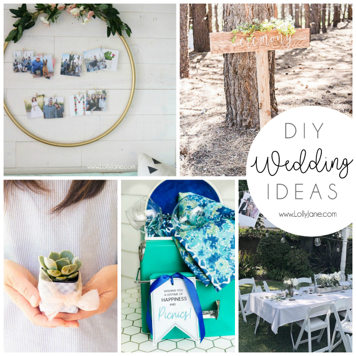 Check out these DIY Wedding Ideas to make your special day even more memorable. Gift ideas, wedding decor ideas and even wedding favor ideas, so cute. #weddingdecor #weddingideas #diywedding