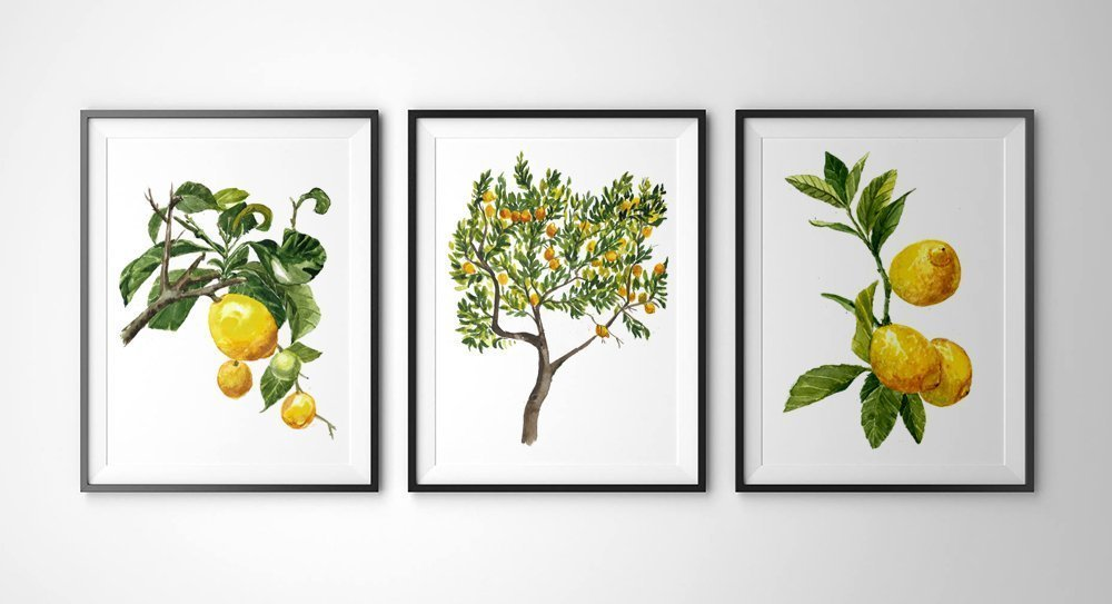 Love these Lemon Botanical Prints | LOTS of cute lemon decor ideas! Love all the ways to bring lemons into your everyday home decor!