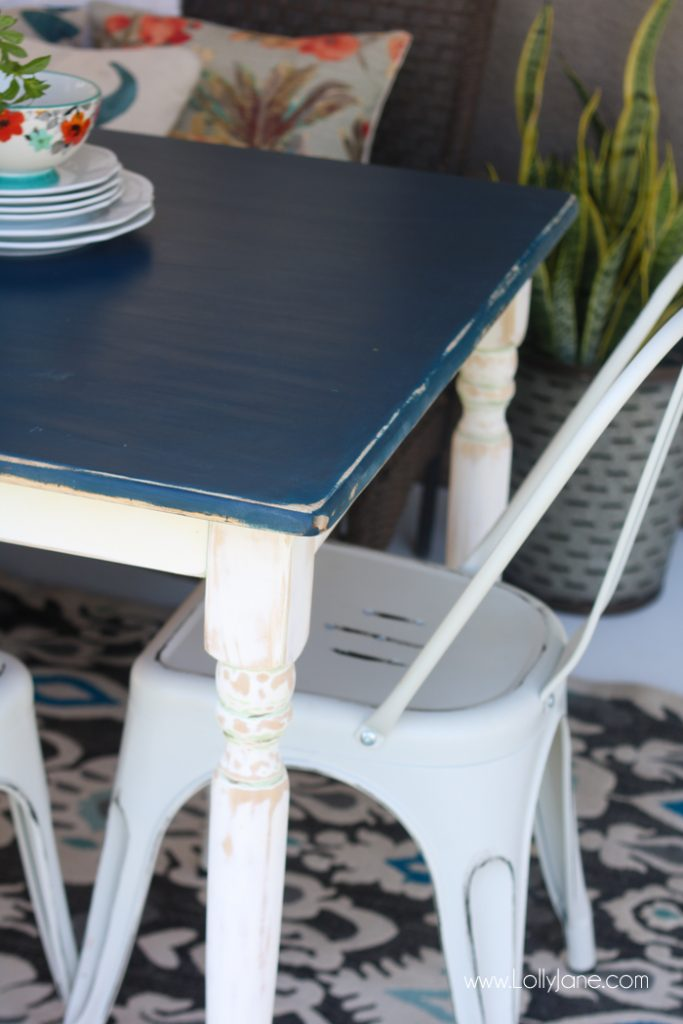 Stained Table Makeover With Tinted Wood Stain Lollyjane