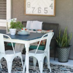 stained table makeover