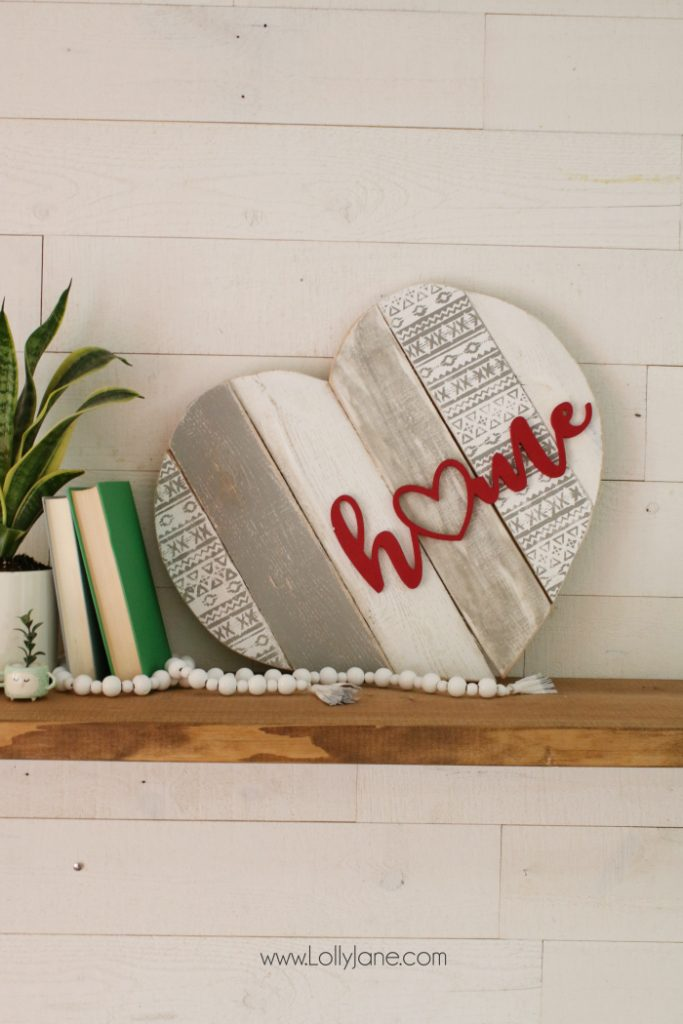 Home Stenciled Pallet Heart Home Decor Lolly Jane