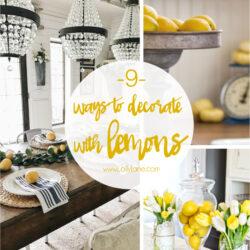 9 lemon home decor ideas
