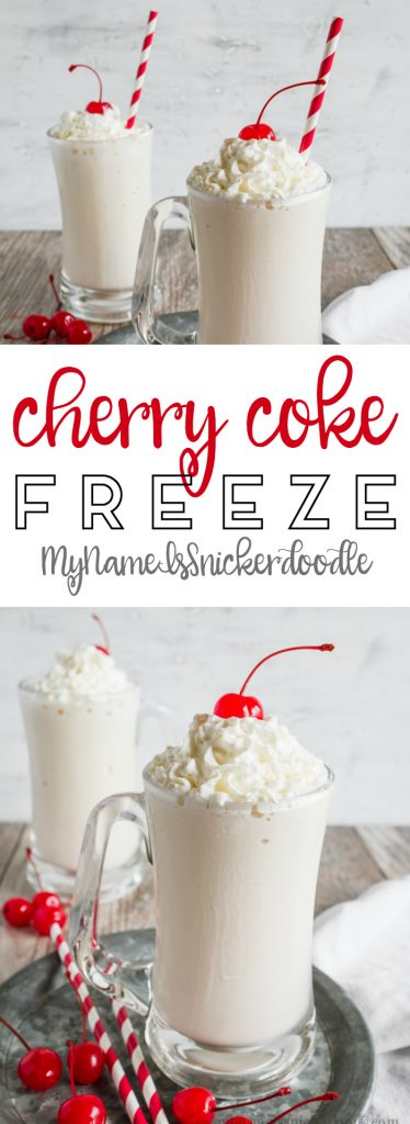 Easy Cherry Coke shake, easy to make and super refreshing!