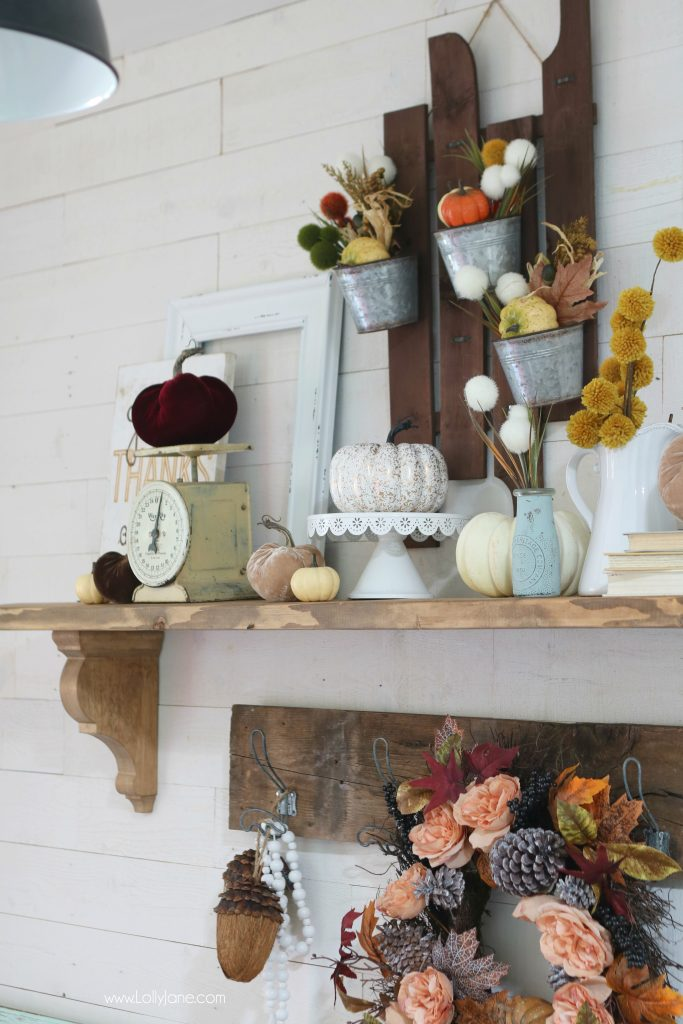 Have an empty shelf? Spruce it up with these EASY fall tips to make your home cozy and ready to welcome FALL!