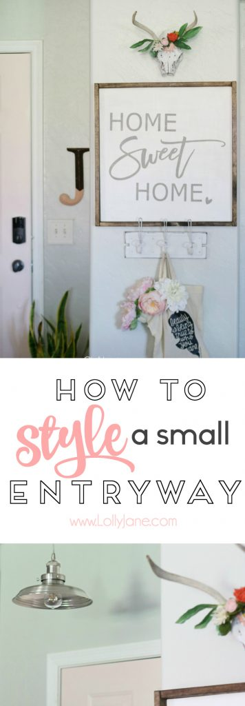 Love this piece on how to Style a Small Entryway!