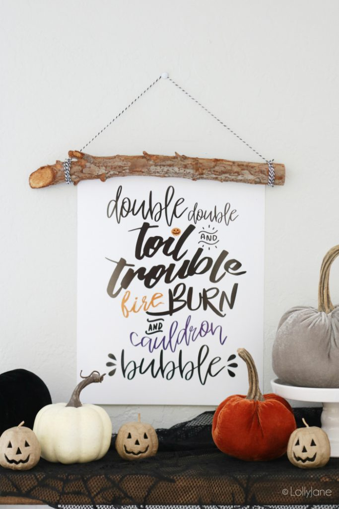 Halloween Printable Art | LollyJane