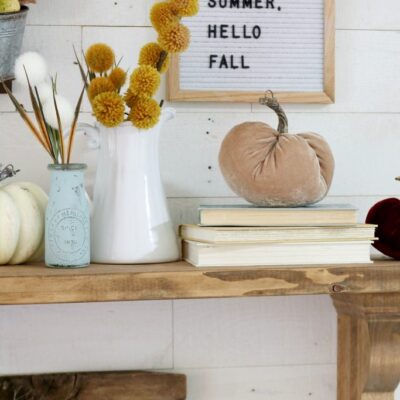 Easy fall entrway decor with JoAnn
