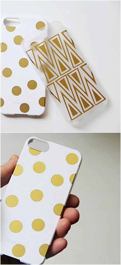 DIY Phone Case Design using a Silhouette Cameo, so cute! Love this fun phone case tutorial!