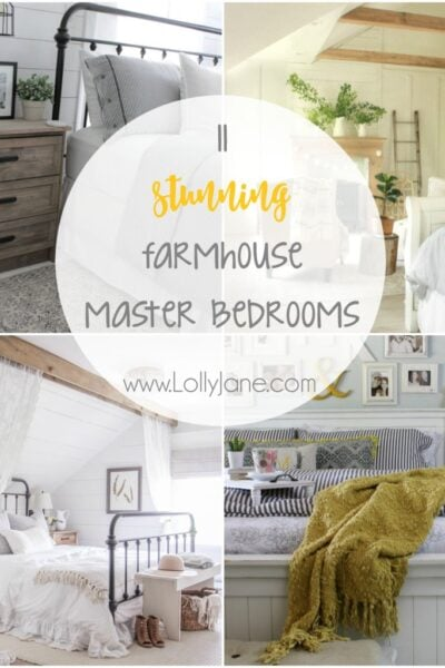 You've GOT to see these farmhouse decor ideas!!! So many farmhouse master bedroom ideas, which is your favorite!?
