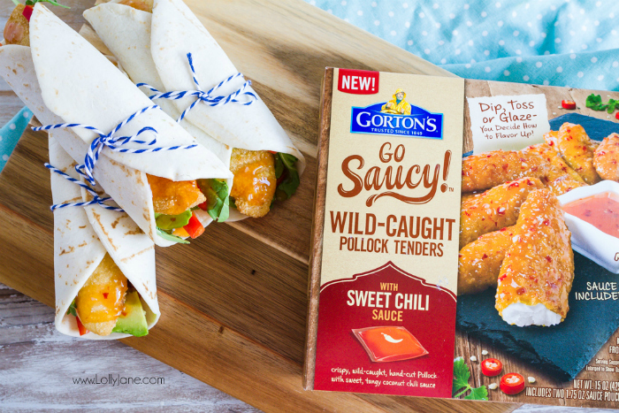 A family favorite! Add these sweet chili fish tenders to a fresh tortilla and stuff with your favorite veggies for a light and healthy dinner!