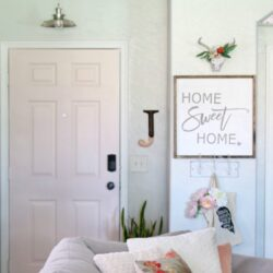 how to style a small entryway
