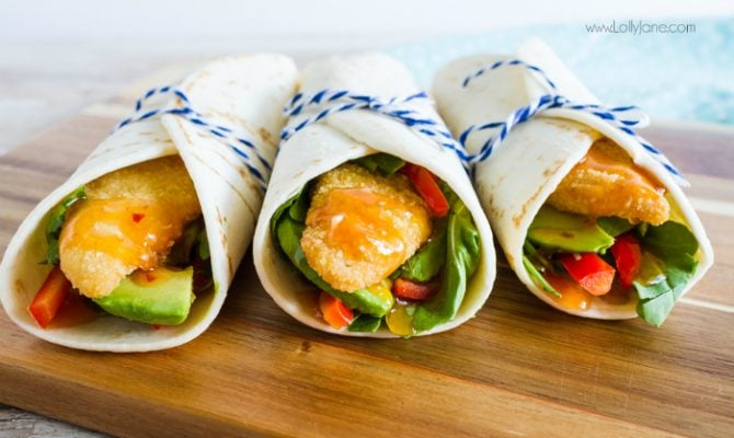 This fish wraps sauce is super flavorful! Just add this sweet chili sauce to fish wraps for a light and easy dinner idea!