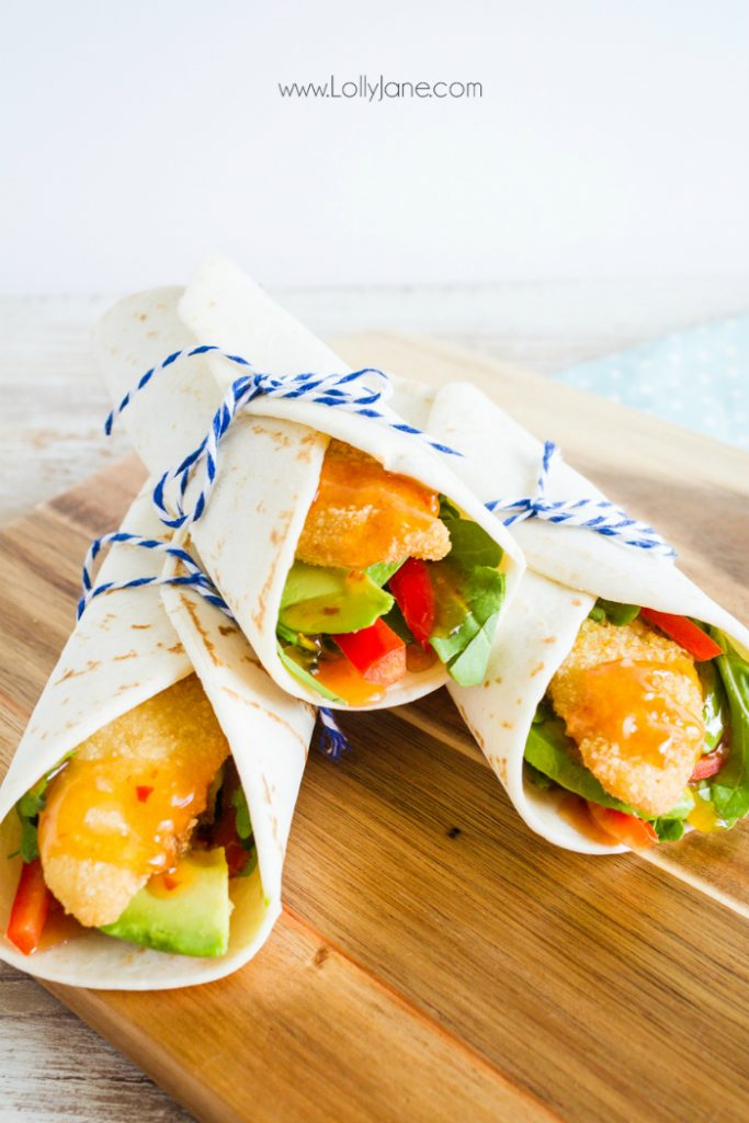 These Sweet Chili Fish Wraps are the perfect dinner idea! Light and easy yet flavorful and healthy, these sweet chili fish wraps make the perfect dinner idea when you're looking for fast dinner ideas!