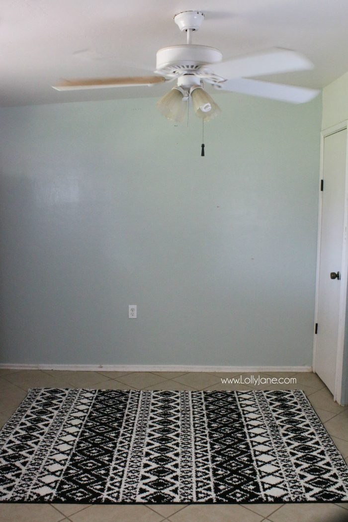 Love this aztec rug from Walmart! A great, affordable high quality black and white rug!