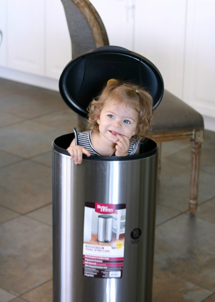 Stainless steel can great to just wipe down spills from little hands!