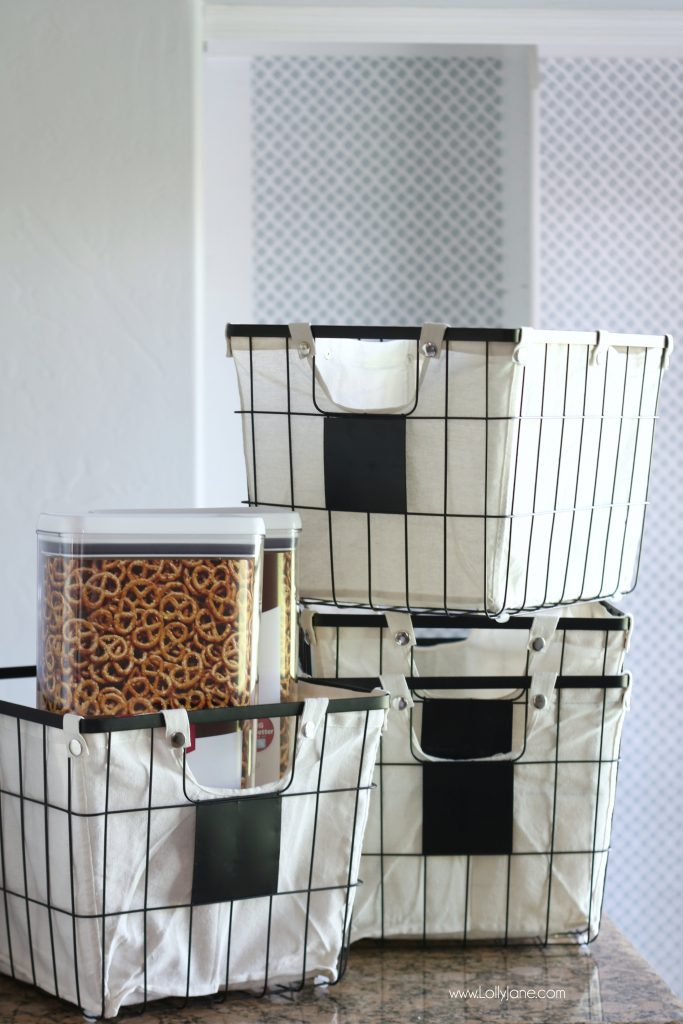 Awesome containers for cereal or snacks love these canvas totes too!