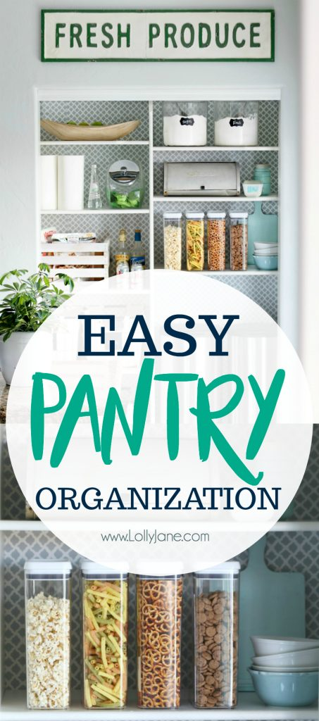 Click to see these EASY Pantry Organizational Tips!