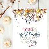 free autumn fall printable