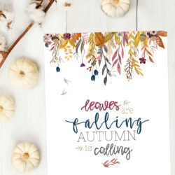 free autumn fall printable