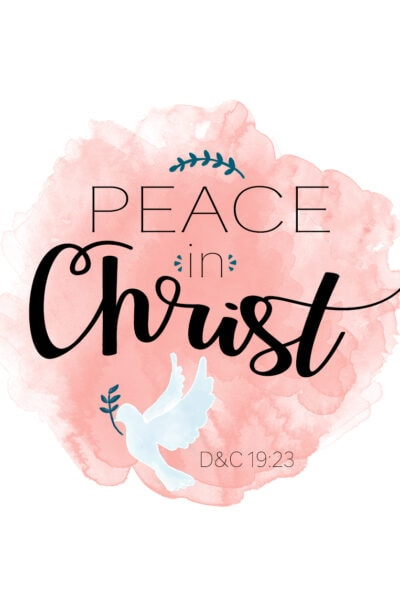 "FREE 2018 Mutual Theme/YW Binder Cover ""PEACE IN CHRIST"", includes presidency binder covers! (También disponible en Español!)"