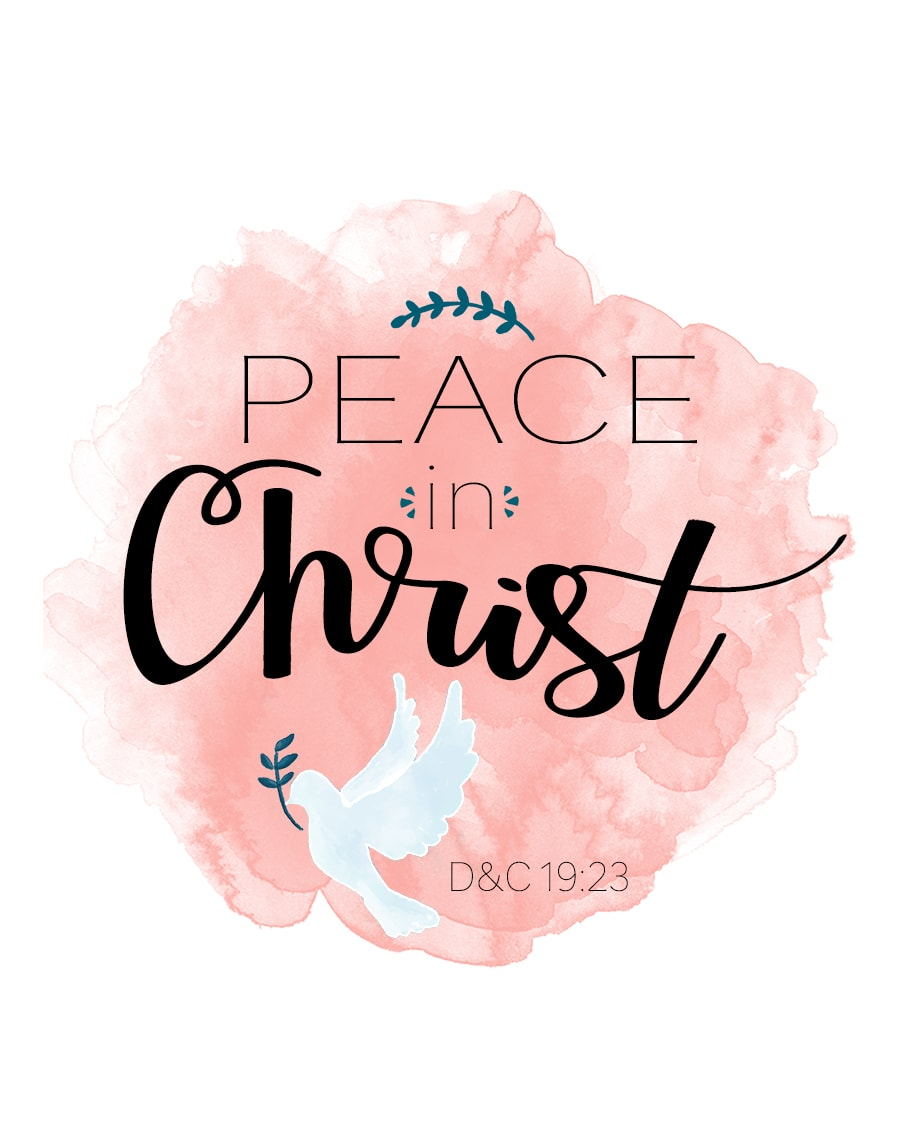 "FREE 2018 Mutual Theme/YW Binder Cover ""PEACE IN CHRIST"", includes presidency binder covers! (También disponible en Español!)"