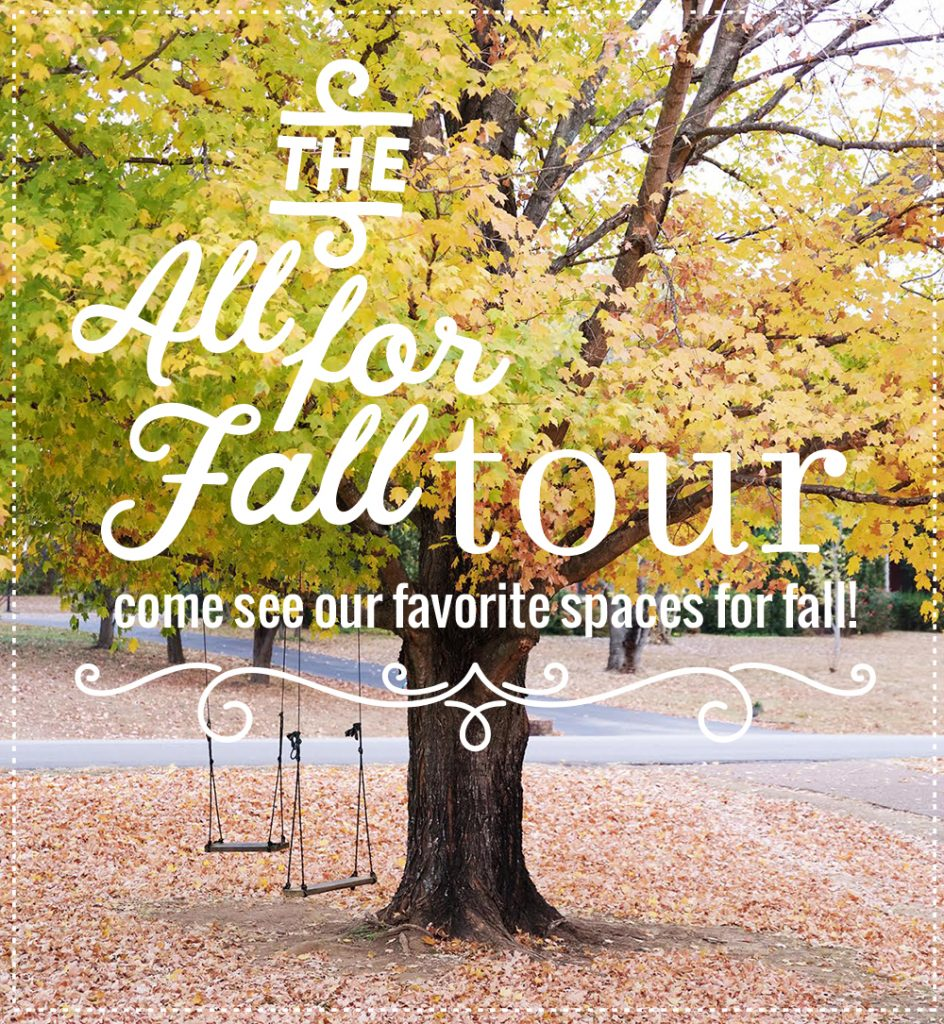 Check out these gorgeous fall home tours! Your favorite home decor bloggers share how they decorate their homes for fall!