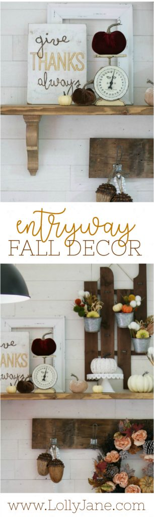 Check out this super easy entryway fall decor ideas! Your entryway is the first thing people see, warm it up with these easy fall decor tips!
