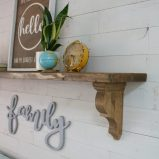 diy farmhouse entryway shelf