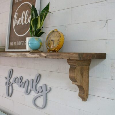 diy farmhouse entryway shelf